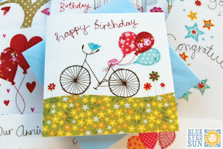 Stitched Greeting cards from Blue Eyed Sun