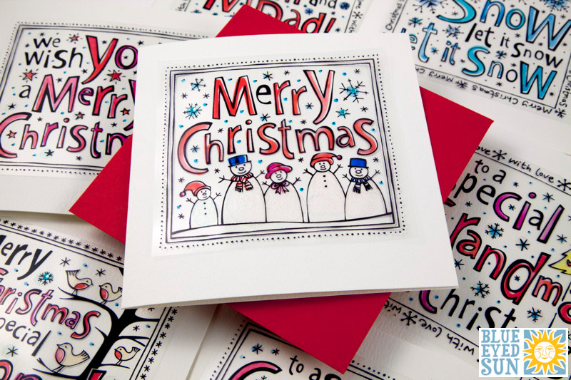 Funky Christmas card range from Blue Eyed Sun