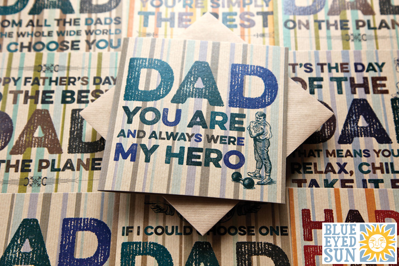Fathers Day cards by Blue Eyed Sun