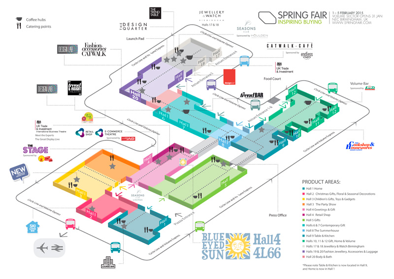 Spring Fair 2015 NEC Hall Plan
