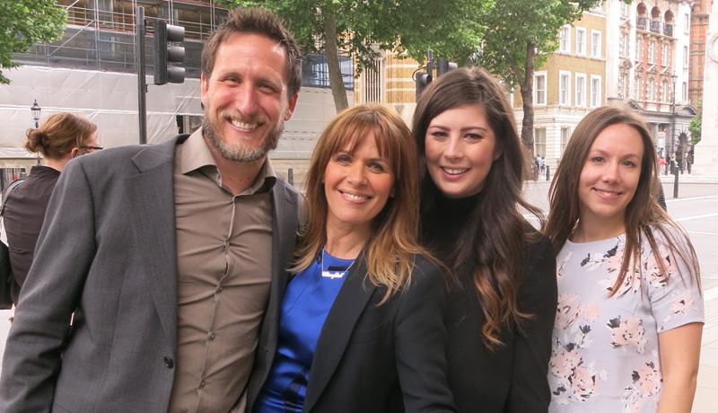 Jeremy Corner, Carol Smillie, Gemma Price and Maria Allen
