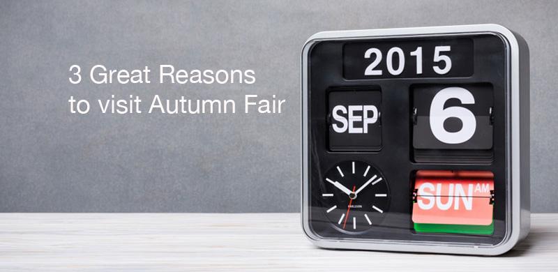 3 Reasons to Visit Autumn Fair