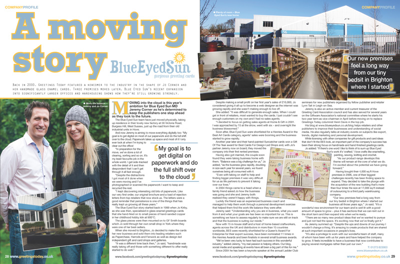 Greetings Today Magazine - Blue Eyed Sun