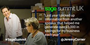 Jeremy Corner - Sage Summit London