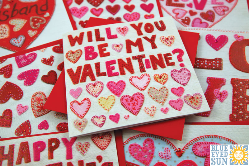 New Valentines Day Cards from Blue Eyed Sun BES Blog – Valentines Cards Uk