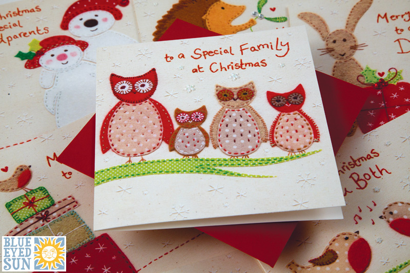 Gorgeous Christmas embroidered card range from Blue Eyed Sun
