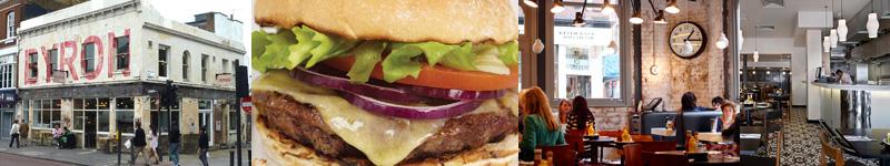 Byron Burger Restaurant near the Business Design Centre