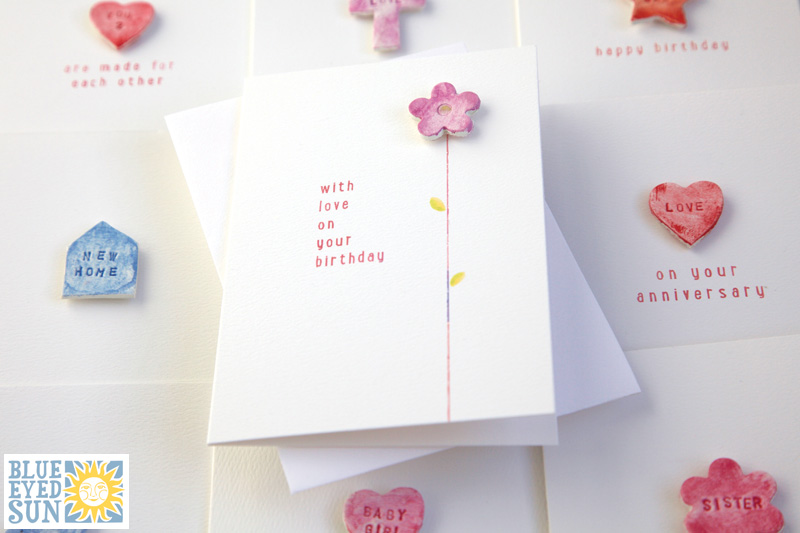 Impressed greeting cards