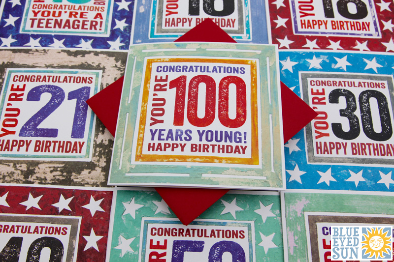 In the Frame - Birthday Age cards
