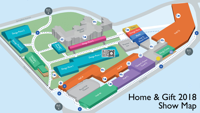 Home and Gift Show map 2018