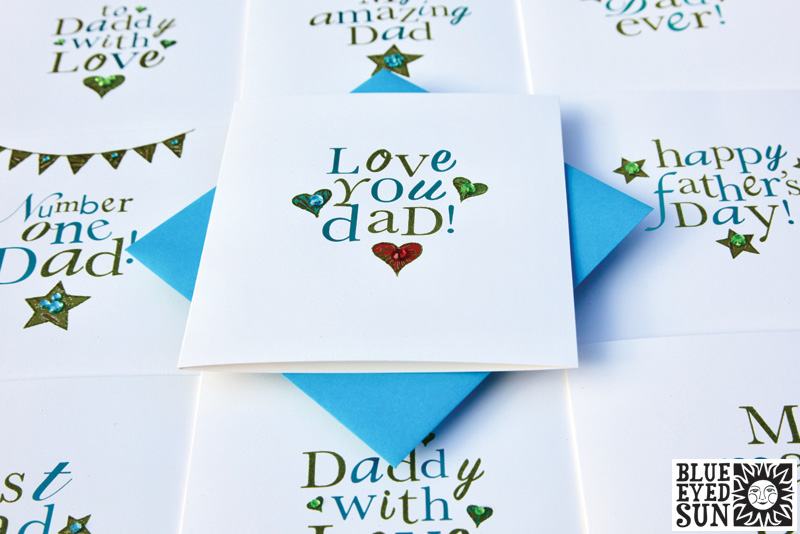 Treasure Fathers Day cards by Blue Eyed Sun