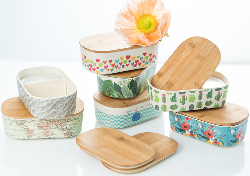 Deluxe Bamboo Lunch Boxes - Blue Eyed Sun